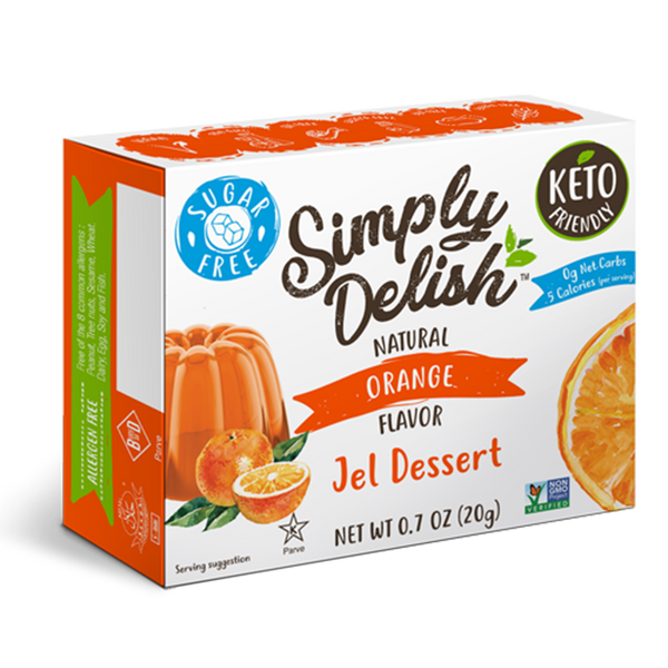 Simply Delish, Natural Orange Flavor Jel Dessert 0.7oz