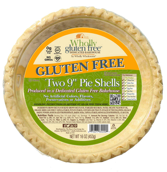 "Wholly Wholesome, Gluten Free Pie Shells 9"" 2pcs (Frozen)"