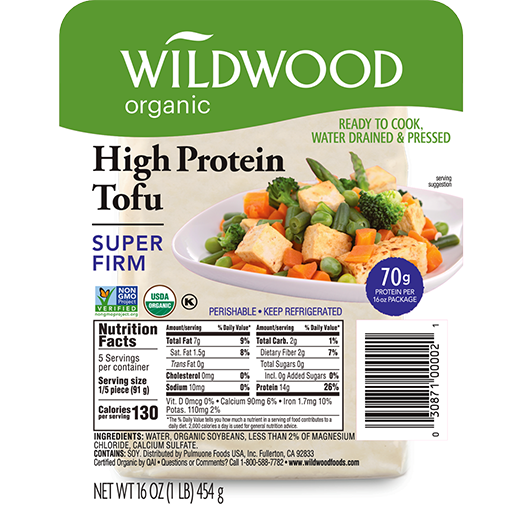 Wildwood, Organic High Protein Tofu Super Firm 16 oz (Chill)