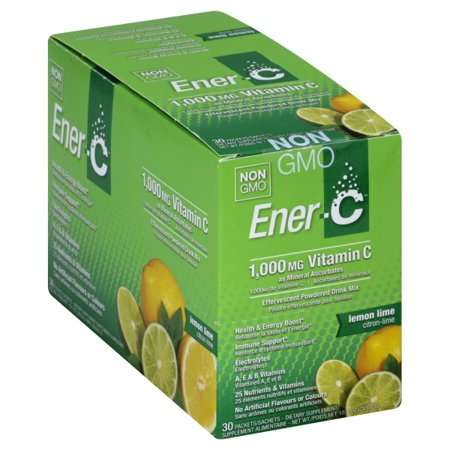 Ener-C, Vitamin Drink Mix Lemon Lime 1000 Mg 0.3oz x 30 ct
