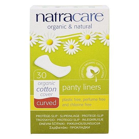 Natracare, Organic and Natural Curved Panty Liners Unscented 30Ct