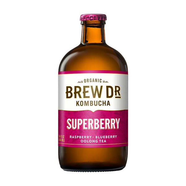 BREW DR, Kombucha Superberry 14oz (Chill)