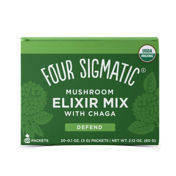 Four Sigmatic, Mushroom Elixir Mix with Chaga 20 Packets