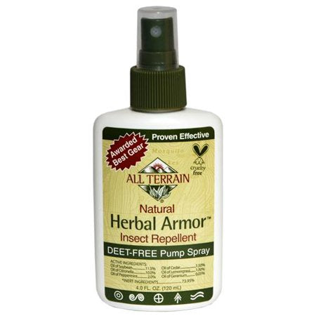 All Terrain, Herbal Armor DEET-free Natural Insect Repellent 4oz