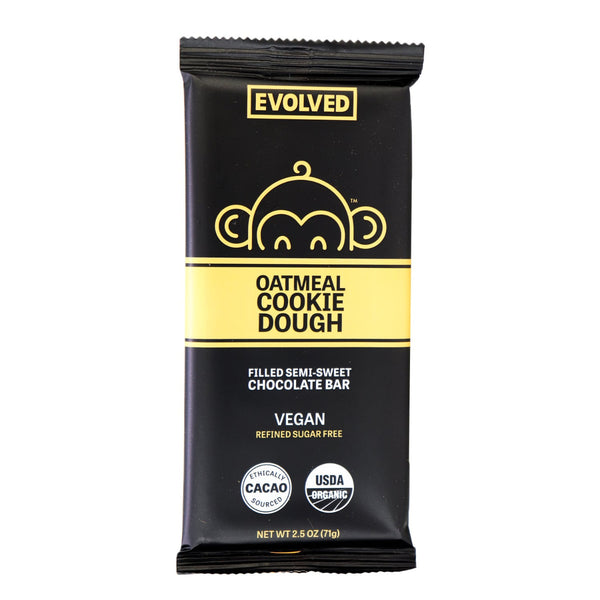 Evolved Chocolate, Oatmeal Cookie Dough Filled Bar 2.5oz (Chill)