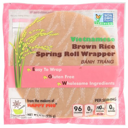 Star Anise Foods, Vietnamese Brown Rice Spring Roll Wrapper 8 oz