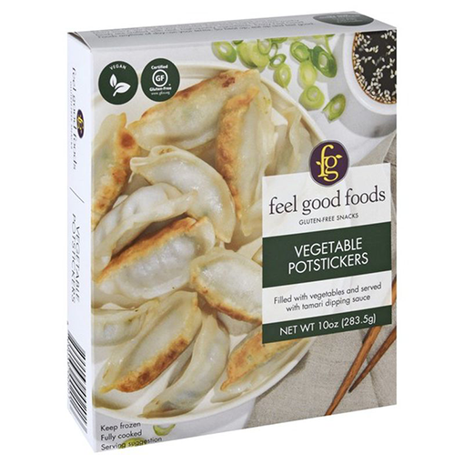 Feel Good Foods, Gluten-Free Vegetable Potstickers 10oz (Frozen)