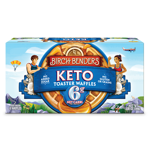 Birch Benders, Keto Toaster Waffles 6ct (Frozen)