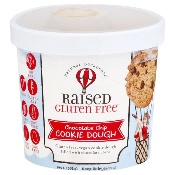 Raised Gluten Free, Chocolate Chip Cookie Dough 14oz (Frozen)