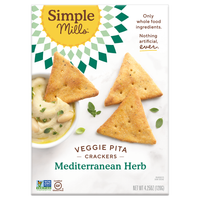 Simple Mills, Mediterranean Herb Veggie Pita Cracker 4.25oz