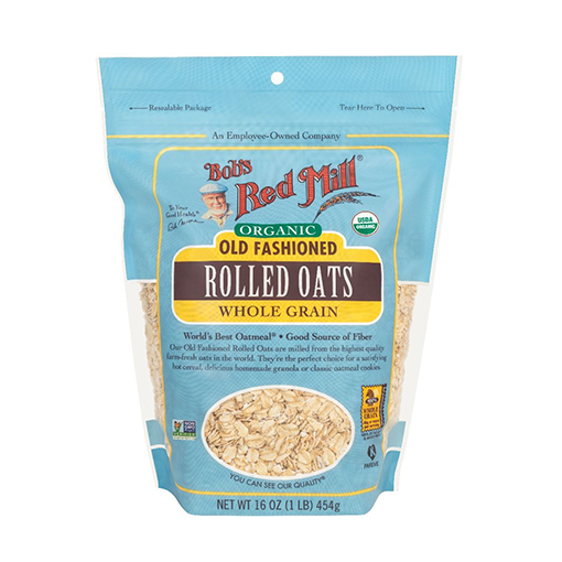 Bob's Red Mill,  Organic Old Fashioned Rolled Oats Whole Grain 16oz