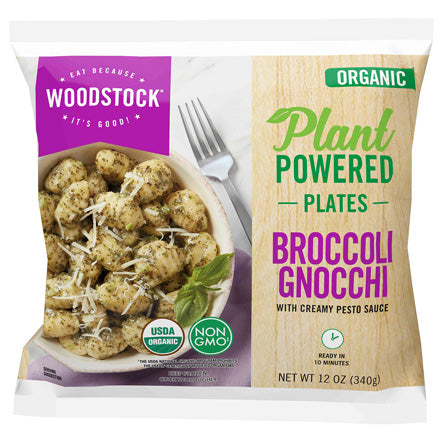 Woodstock, Organic Broccoli Gnocchi with Creamy Pesto Sauce 12oz (Frozen)