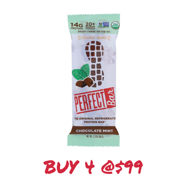 Perfect Bar, Chocolate Mint Bar 2.3 oz (Chill)