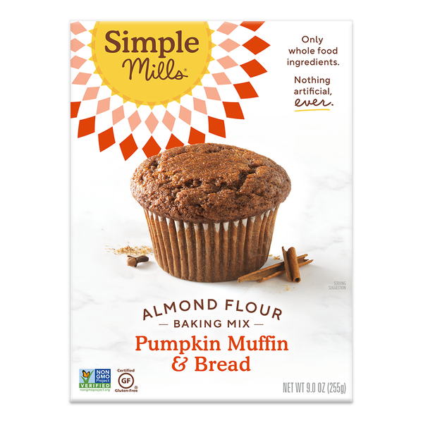 Simple Mills, Gluten Free Almond Flour Pumpkin Muffin & Bread Mix 9 oz