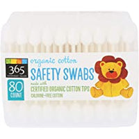 365 Daily Value, Organic Cotton Safety Swabs 80ct