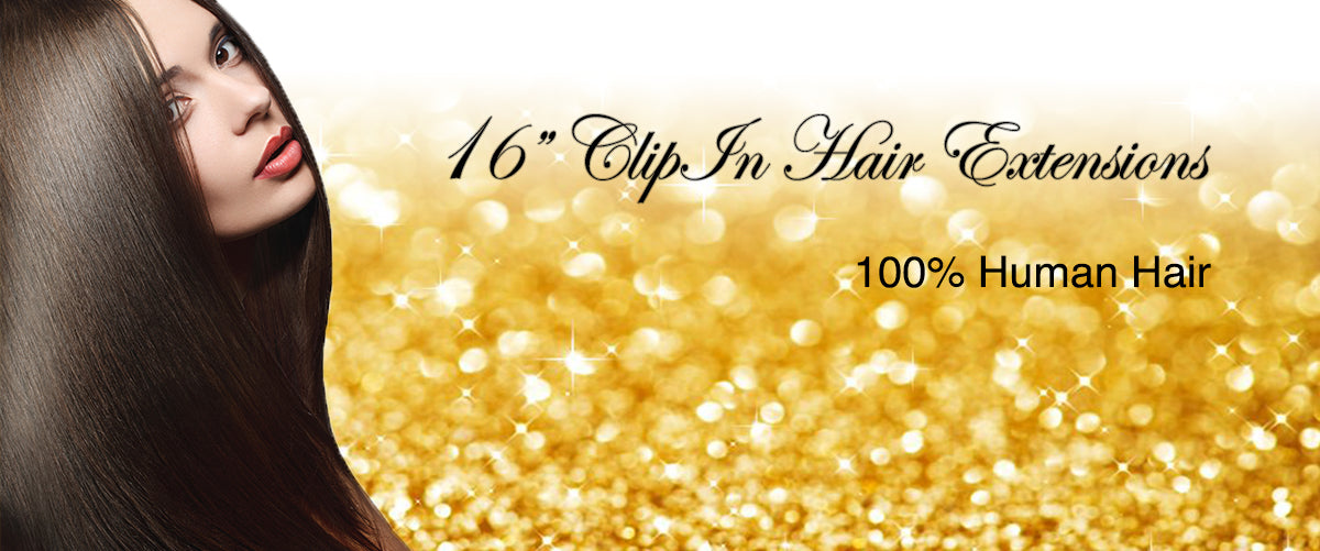 16 Clip On Remy Human Hair Extensions Celebrity Strands