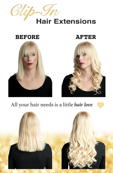 Celebrity Strands Clip In Hair Extensions: Before and After