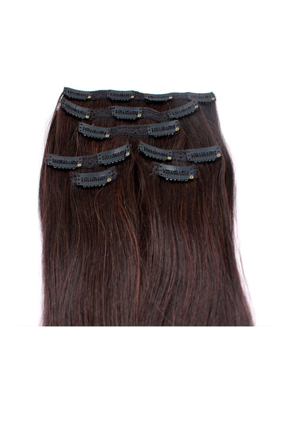 "16"" Clip In Hair Extensions: No 2 Darkest Brown - Celebrity Strands  - 3"