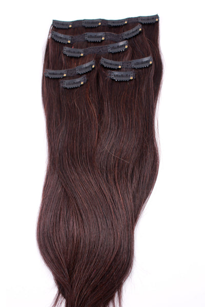 "16"" Clip In Hair Extensions: No 2 Darkest Brown - Celebrity Strands  - 2"