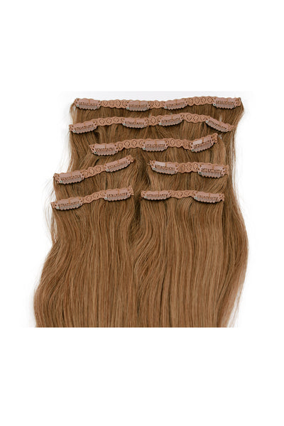 "16"" Clip In Hair Extensions: No 5 Light Ash Brown - Celebrity Strands  - 3"
