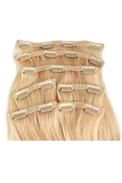 "16"" Clip In Hair Extensions: No 613 Monroe Blonde - Celebrity Strands  - 3"