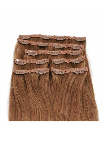 "16"" Clip In Hair Extensions: No 8 Dirty Blonde - Celebrity Strands  - 3"