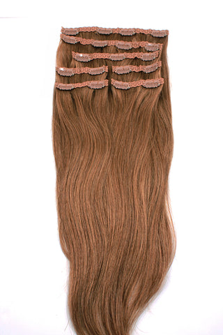 "21"" Clip In Hair Extensions: No 8 Dirty Blonde - Celebrity Strands  - 2"