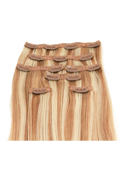 "21"" Clip In Hair Extensions: No P27-613 Blonde/ Monroe Blonde - Celebrity Strands  - 3"