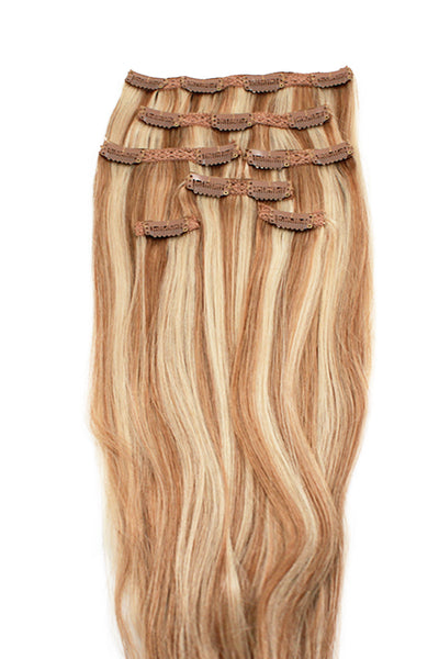 "16"" Clip In Hair Extensions: No P27-613 Blonde/ Monroe Blonde - Celebrity Strands  - 2"