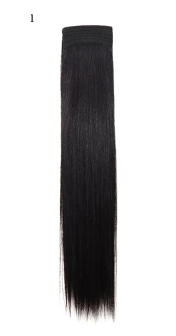 Weft Human Hair Extensions: Color #1 Jet Black