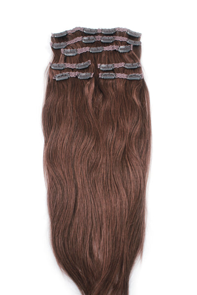 "21"" Clip In Hair Extensions: No 6 Chestnut Brown"