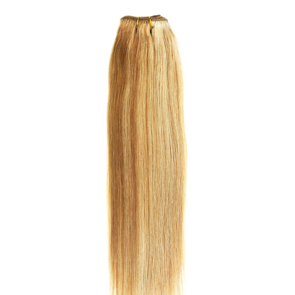 "18"" Clip In Remy Hair Extensions: Blonde/ Monroe Blonde No. P27-613 - Celebrity Strands  - 4"