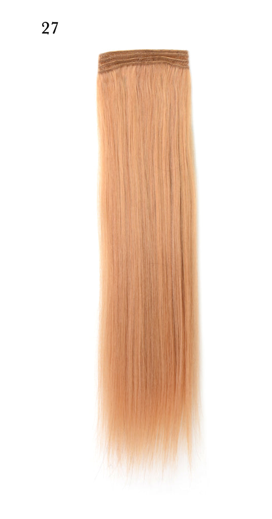 Weft Human Hair Extensions: Color #27 Honey Blonde