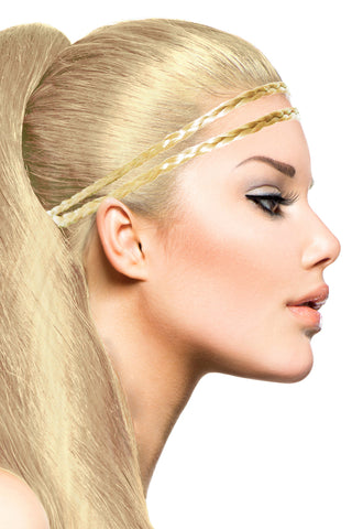 Double Braid Band: Platinum Blonde - Celebrity Strands  - 1