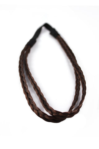 Double Braid Band: Dark Brown - Celebrity Strands  - 2