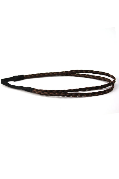 Double Braid Band: Dark Brown - Celebrity Strands  - 4
