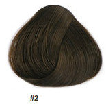 "24"" Clip In Remy Hair Extensions: Darkest Brown No. 2 - Celebrity Strands  - 3"