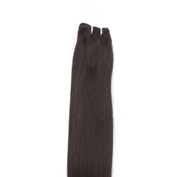 "21"" Clip In Remy Hair Extensions: Darkest Brown No. 2 - Celebrity Strands  - 4"