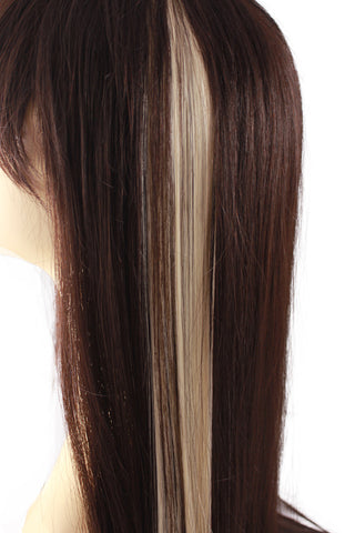 Single Clip Hair Extension: Platinum Blonde - Celebrity Strands  - 1