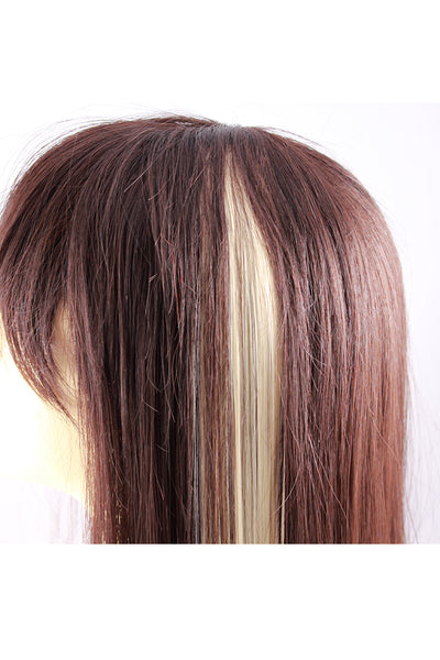 Single Clip Hair Extension: Platinum Blonde - Celebrity Strands  - 3