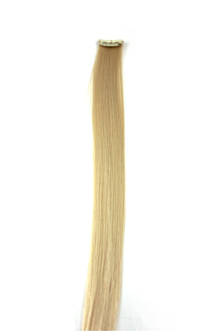 Single Clip Hair Extension: Platinum Blonde - Celebrity Strands  - 2