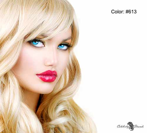 "24"" Clip In Remy Hair Extensions: Monroe Blonde No. 613 - Celebrity Strands  - 3"