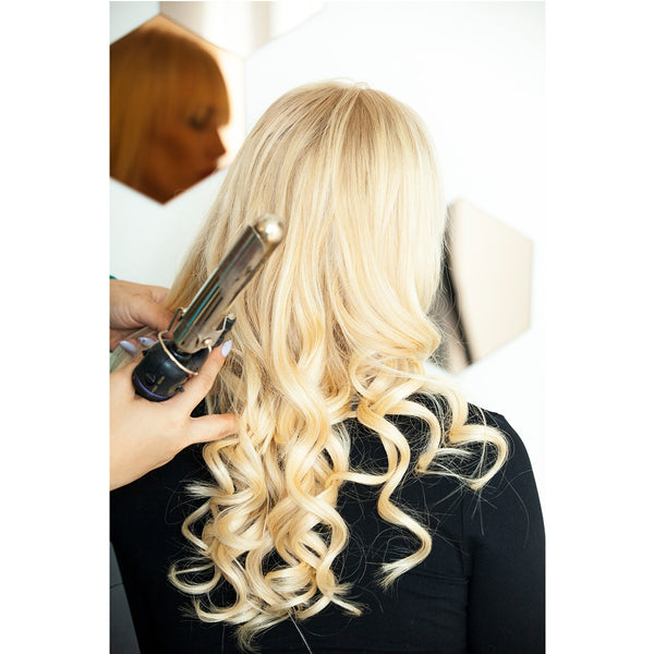 "18"" Clip In Remy Hair Extensions: Monroe Blonde No. 613 - Celebrity Strands  - 4"
