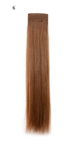 Weft Human Hair Extensions: Color #6 Chestnut Brown