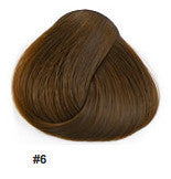 "16"" Clip In Remy Hair Extensions: Chestnut Brown No. 6 - Celebrity Strands  - 2"