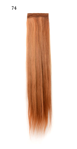 Weft Human Hair Extensions: Color #74 Copper