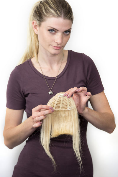 Bang Clip-On Extensions: Color #613 Platinum Blonde