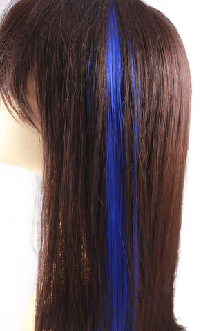 Single Clip Hair Extension: Blue - Celebrity Strands  - 1