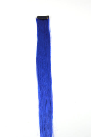Single Clip Hair Extension: Blue - Celebrity Strands  - 2