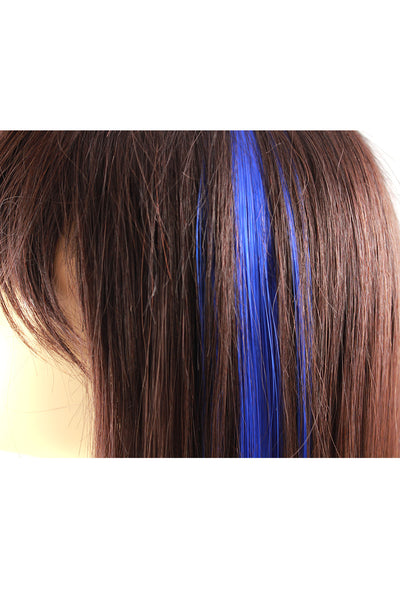 Single Clip Hair Extension: Blue - Celebrity Strands  - 3